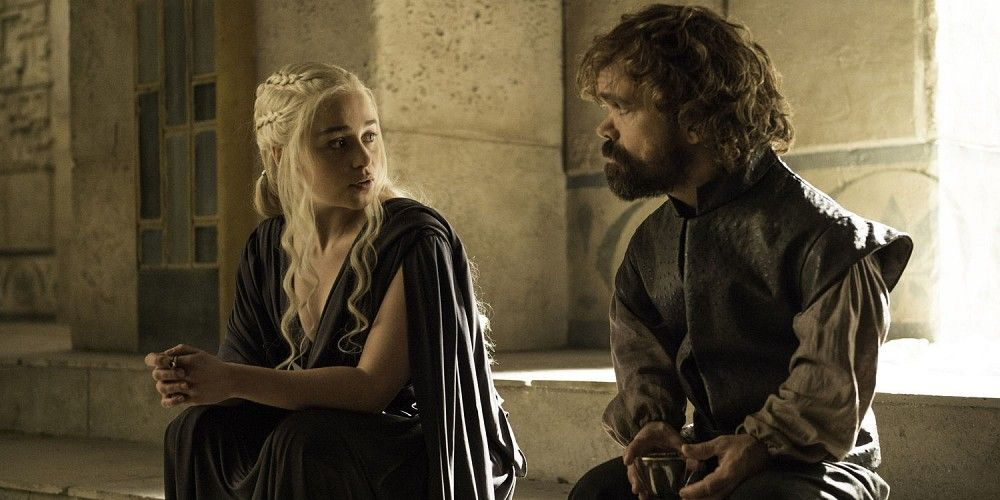 Emilia Clarke and Peter Dinklage in Game of Thrones Season 6 Episode 10