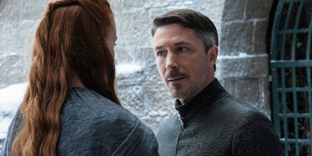 Littlefinger and Sansa Stark in Game of Thrones