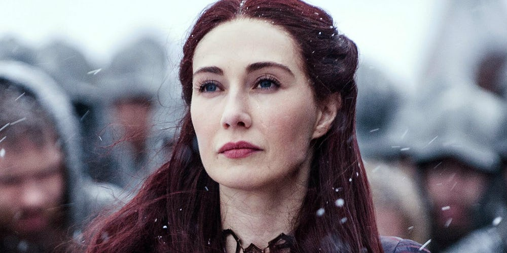 Carice van Houten as Melisandre on Game of Thrones 1
