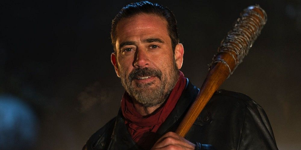 Jeffrey Dean Morgan as Negan in The Walking Dead Season 6 Episode 16