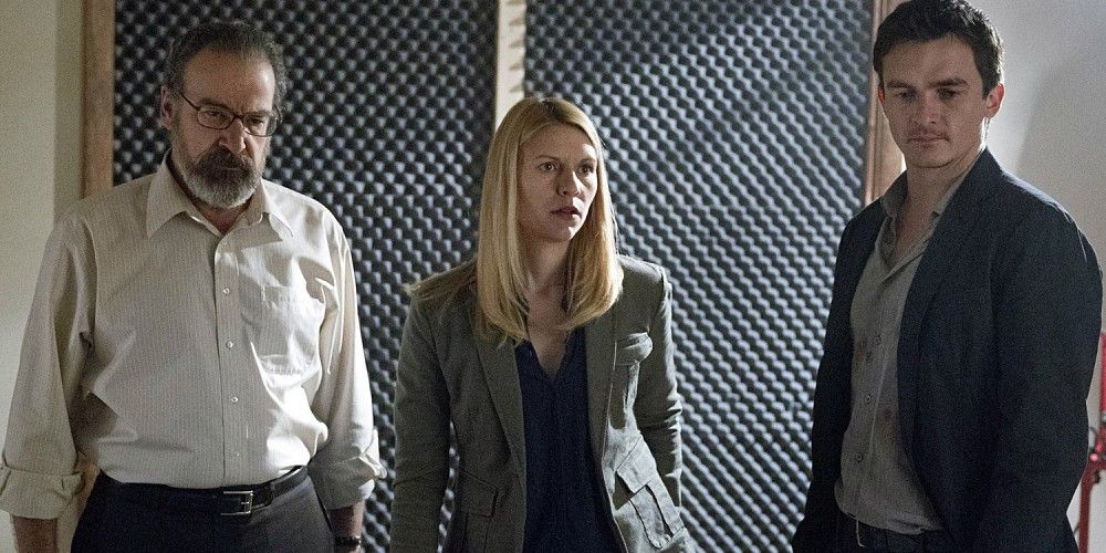 Mandy Patinkin Claire Danes and Rupert Friend in Homeland
