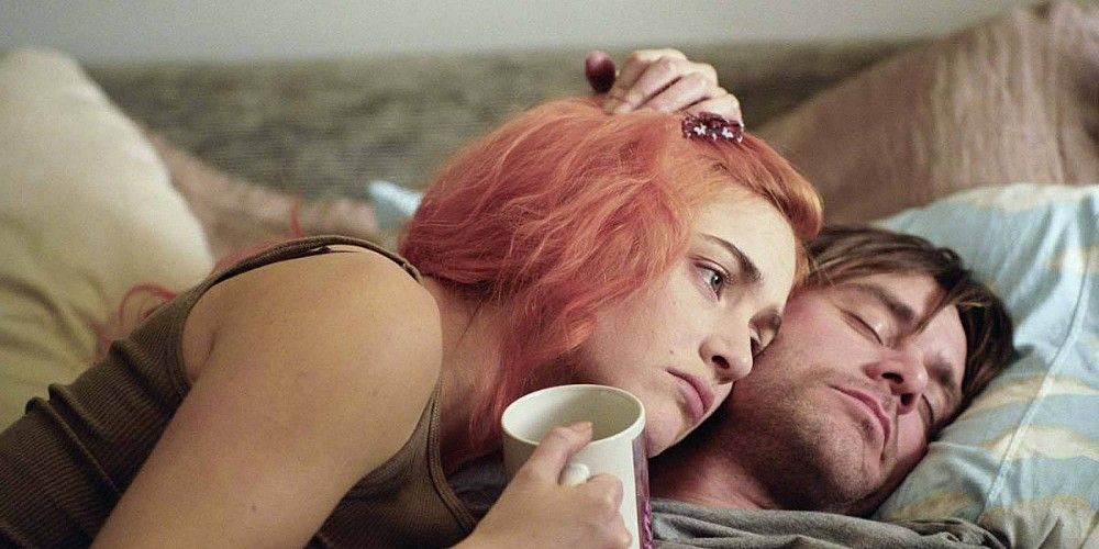 carrey asleep in eternal sunshine