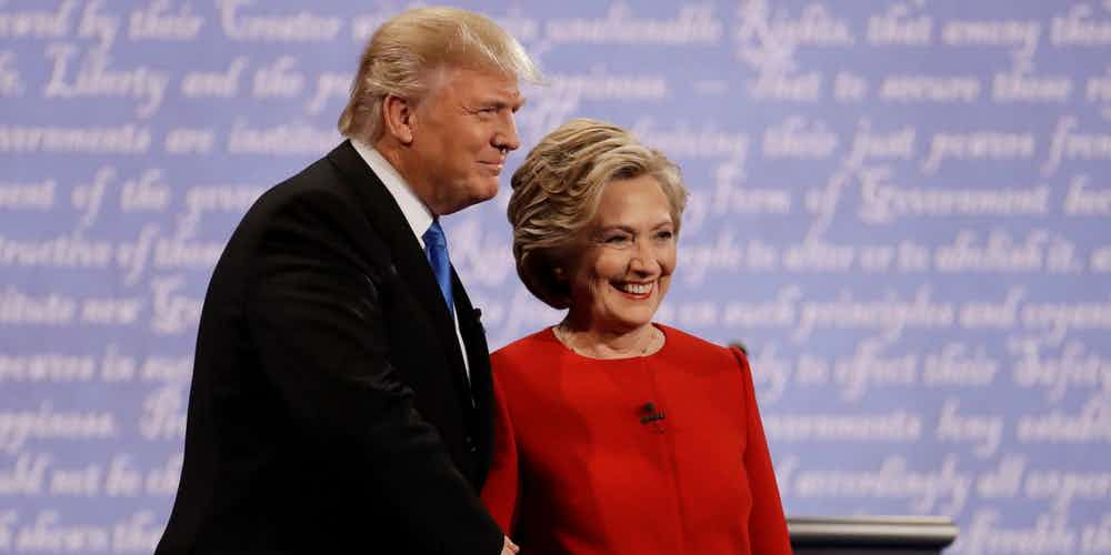 Donald Trump and Hillary Clinton during 2016 Presidential Election