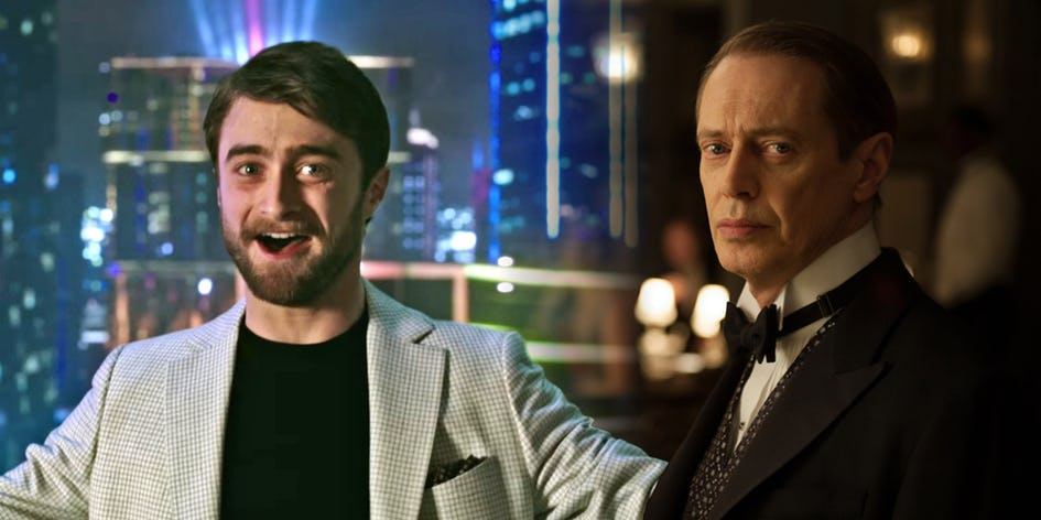 Daniel Radcliffe and Steve Buscemi in Miracle Workers